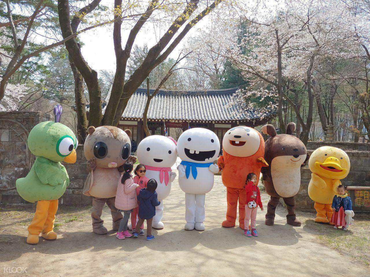 the characters of Nami Island